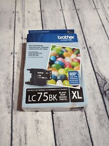 Brother LC75BK XL Black High Yield Ink Cartridge New Open Box
