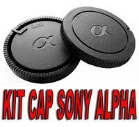 KIT BODY CAP REAR LENS CAMERA SONY ALPHA A MINOLTA DSLR REFLEX AF A68 A37 A57
