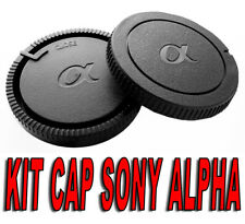KIT BODY CAP REAR LENS CAMERA  ADAPT FOR SONY ALPHA A A500 A550 A380 A330 A900