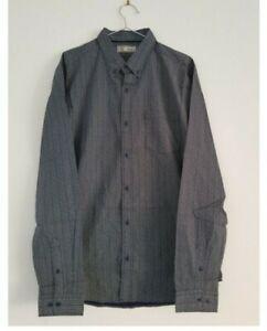 BNWT Next Mens Black Mix Long Sleeve Shirt Size Large