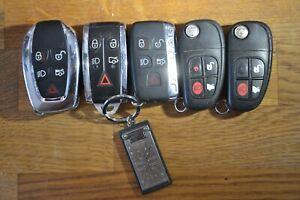5 x Jaguar Car Key Fobs
