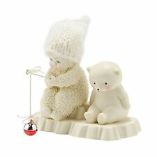New Dept 56 Snowbabies Figurine Fishing Polar Bear Snow Baby Statue Bait & Wait