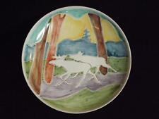 """Elle Keramikk 11 1/2"""" Moose Plate by Grethe Wold Norway"""
