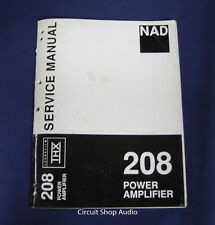 Original NAD 208 Power Amplifier Service Manual