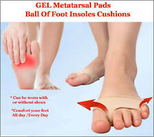 Gel Metatarsal Pads Ball Of Foot Insoles Cushions Corns Calluses Support