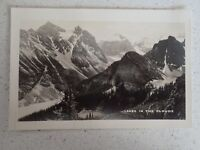 Vintage Real Photo Postcard LAKES IN THE CLOUDS, BANFF NATIONAL Canada