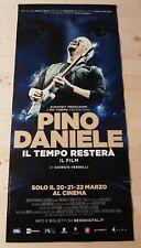 PINO DANIELE IL TEMPO RESTERÀ 2017 Locandina Cinema 33x70 Poster Evento Original