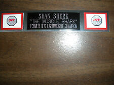 SEAN SHERK (UFC) NAMEPLATE FOR SIGNED TRUNKS DISPLAY/PHOTO/PLAQUE