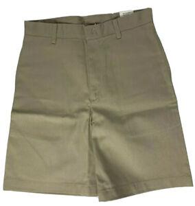 K12 Gear Boys School Uniform Shorts NWT 6446BR Khaki/Navy/Gray Var. Sizes UNI12