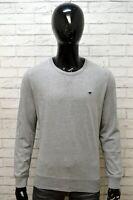 Maglione Felpa Uomo Grigio MUSTANG Taglia L Pullover Cardigan Sweater Man Shirt
