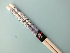 JAPANESE WOMEN BLUE CHERRY BLOSSOM WHITE CHOPSTICKS HAIR STICK CHINESE PARTY