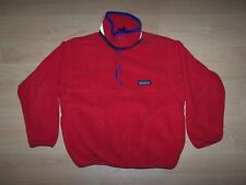 PATAGONIA Boys Red Fleece Pullover Jacket Size 8