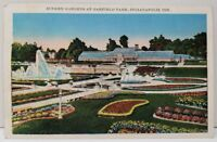 Sunken Gardens at Garfield Park Indianapolis Indiana Postcard A4