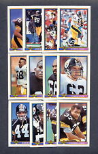1991 Topps Bowman Football Pittsburgh Steelers TEAM SET - MINT