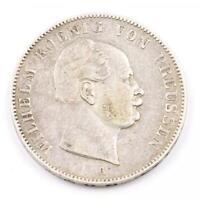 1 Taler Vereinstaler Wilhelm König von Preussen 1861 Silber .