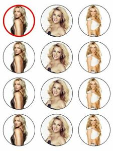 Britney Spears  singer artist edible cupcake Toppers Wafer Icing x 12
