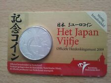 Países Bajos 5 euro 2009 plateado japón vijfje Nederland UNC coincard