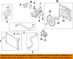 HYUNDAI OEM 13-14 Santa Fe Radiator Coolant-Lower Hose 254122W500