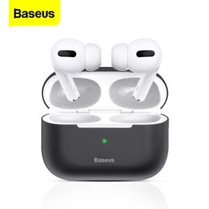 Baseus Shockproof Case Silicone Cover Earbud Skin Earphone Shell for Airpods Pro