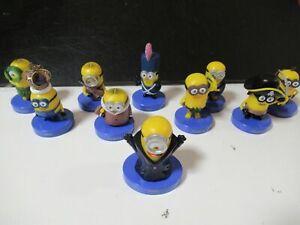 SET 10 Figure Base BLU 5cm Personaggi Cartoni Animati Minions