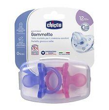 CHICCO 2 Gommotti 12+ Bimba Gommotto Physio Soft Silicone Succhiotto ciuccio