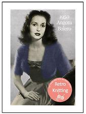 1950's Angora Bolero Knitting Pattern Copy