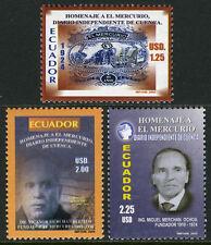 Ecuador 1725-1727, MNH. El Mercurio Newspaper, 80th anniv. Masthead, 2005