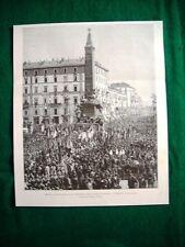 Nel 1895 a Milano - Inaugurazione del monumento delle cinque giornate