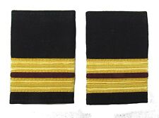 Epaulette,2 x 1/2 Gold with 1x1/4inch Maroon Full Size Engineers R1832