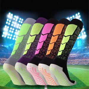 Sports Compression Socks Football Soccer Non-Slip Basketball Knee High Stockings