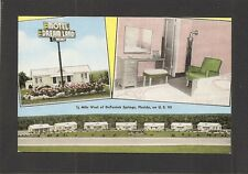 LINEN POSTCARD:  DREAM LAND MOTEL - DeFUNIAK SPRINGS, FLORIDA - Unused, 1940s