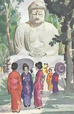 JAPAN TRAVEL POSTER, KAMAKURA BUDDHA, FRIDGE MAGNET
