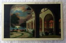 Linen Postcard Veranda Buena Vista Hotel Biloxi Mississippi #pq8j