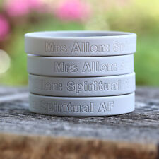 400 Custom Silicone Wristbands YOUR Color, Text & Image