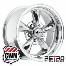 "15 inch 15x8 Retro Polished Aluminum Wheels Rims 5x4.50"" for Ford Cars 1959-1979"