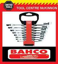 BAHCO 1RZ/SH8 8pce A/F RATCHET COMBINATION GEAR RING & OPEN END SPANNER SET
