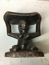 antiques ethnographic african masks headrest stool Congo
