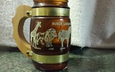 Busch Gardens Zooligical Park drinking glass with wooden handle cup mug zoo