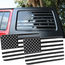 for Jeep Wrangler JK 2011-2017 Rear Window USA Flag Decals Stickers Carbon Fiber