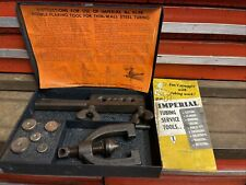 Vintage Imperial tubing tool kit No- 93 W/original case and advertising insert