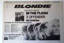 """BLONDIE Debbie Harry In The Flesh and Tour 1978 UK Press ADVERT 12 x 8"""""""