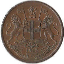 1853 British East India Company 1/2 Pice Coin KM#464