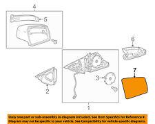 Mercedes MERCEDES-BENZ OEM Door Rear Side View-Mirror Glass Right 2128100621