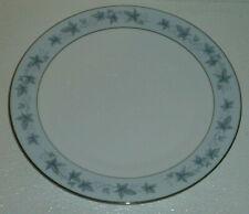"""Noritake Dinner Plate BLUECOURT Vtg 1972 Blue 6844 Leaves 10.5"""""""