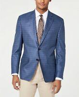 $350 Lauren Ralph Lauren Silk Wool UltraFlex Blue Check Sport Coat 36R 36 NEW