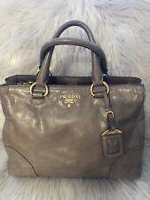 Authentic Prada Вителло блеск сумка на ремне
