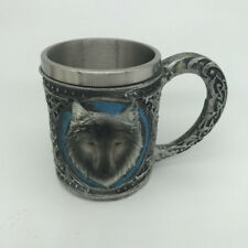 Double-layer Resin Stainless Steel Coffee Mug Wolf Head Funny Cup for Office