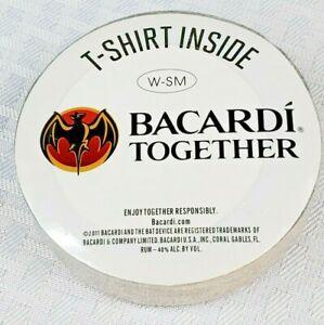 2011 Bacardi Together T-Shirt Inside wrapped disk Grey Women's- SM  Bacardi Rum