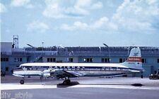 National Airlines Douglas DC-7 jet airplane postcard