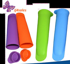 12 Pcs Silicone Push Up Ice Cream Jelly Lolly Pop Popsicle Maker Mould Mold